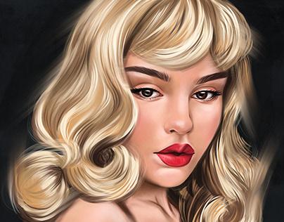 Beautyspock ProCreate Digital Portrait