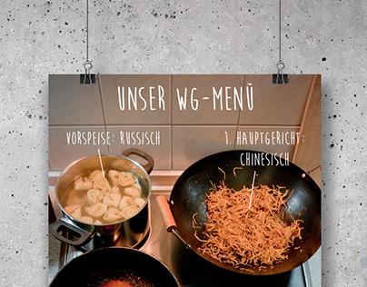 Unser WG-Menü // Plakatwettbewerb