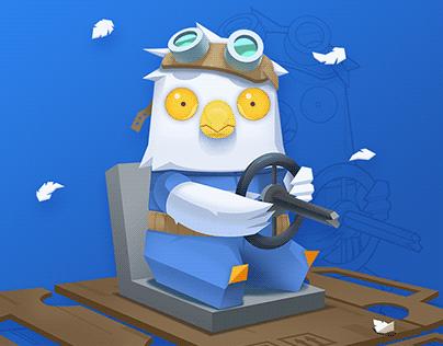 The AutoNavi mascot design process