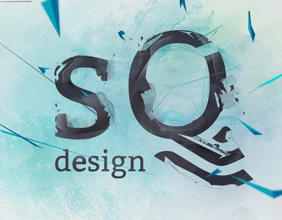 sQdesign webdesign. Adaptive promo page with portfolio.