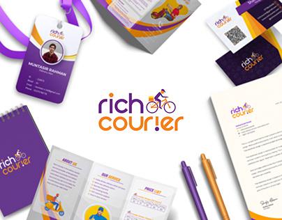 RICHCOURIER LOGO | Brand & Stationary Design