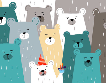 Angry bears at the birthday party