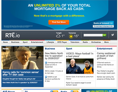 Mortgages Homepage Takeover
