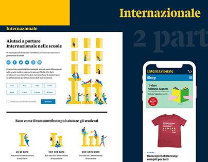 Web Design - Internazionale Sponsor, Subscribe & Shop