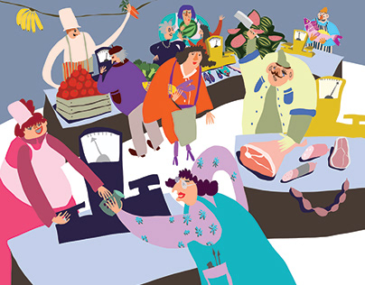 Illustrations for the children's book