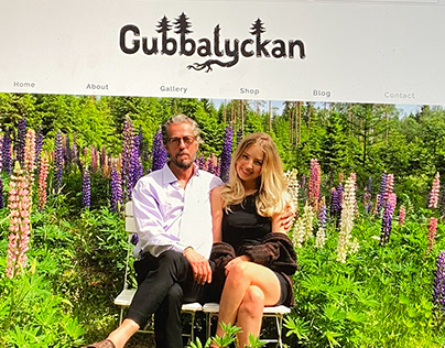 Logo and website for Gubbalyckan artists