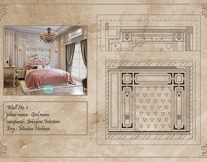 Classic Bedroom Working drawings .