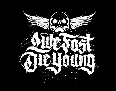LINOTYPO TSHIRT Live Fast - Die Young