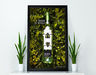 Sacred Wines: Label and Promotional Poster Design