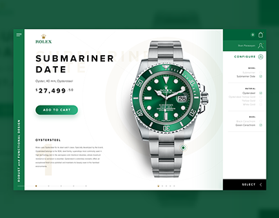 ROLEX Online Store - Product Redesign