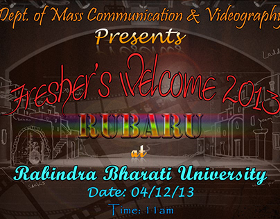 Freshers welcome poster