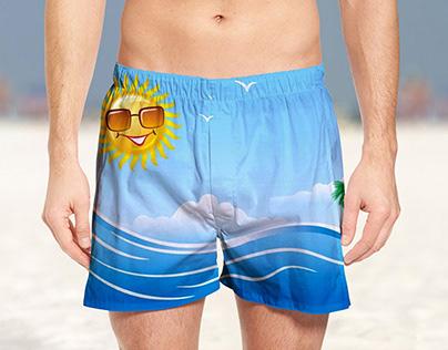 Free Summer Beach Shorts Mockup PSD