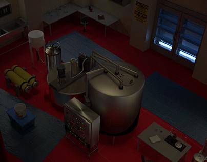 Breaking Bad Lab 3D Render