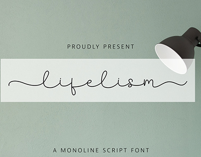 FREE   Lifelism Monoline Script
