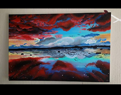 Red Clouds painting