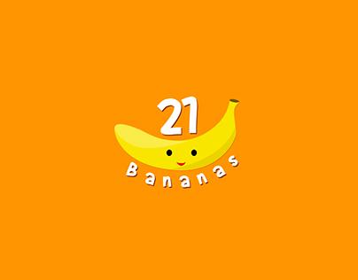 21 Bananas Logo