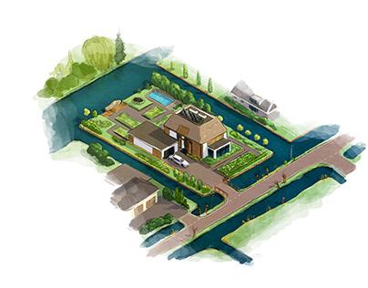 Artist impressions Beeldkwaliteitsplan 's Gravenweg