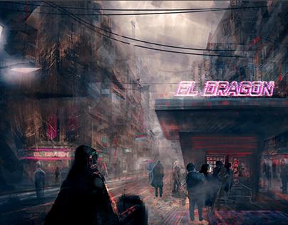 Single cover art - El dragon
