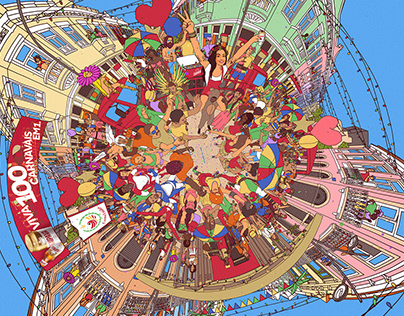 Itaipava Carnival 360° Illustration