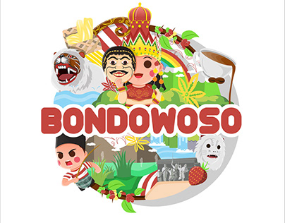 Bondowoso Logo and T-shirt Design