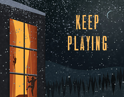Keep Playing Rock Climbing Poster