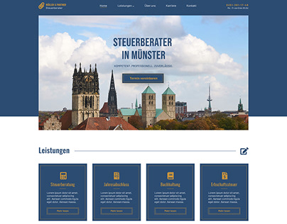 Homepage Webdesign Concept