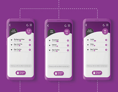 Phone Cleaner App UI
