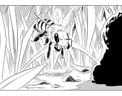 The Extraordinary Honeybee - Storyboards