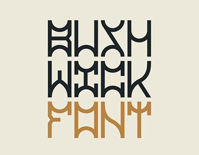 Bushwick Display Font