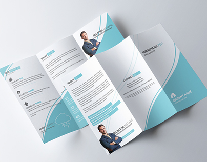Clean Multipurpose Corporate Tri-fold Brochure