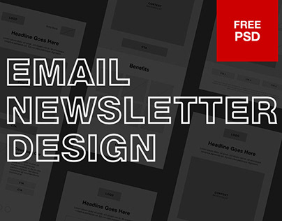 EMAIL NEWSLETTER DESIGN Free PSD Download