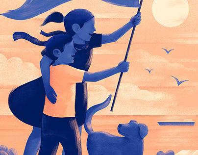 Ilustraciones/afiches -Valparaíso, ciudadanía