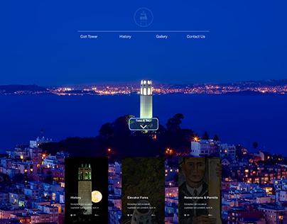 COIT TOWER WEBSITE DESIGN