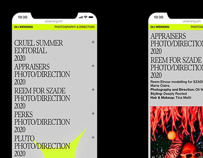 OLIWENSING / PORTFOLIO WEBSITE DESIGN
