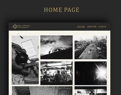 Photography Portfolio Web Site (Study)