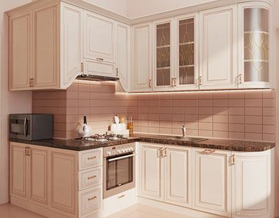 Kitchen in classical style