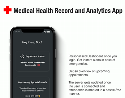 Medical Health Record and Analytics App