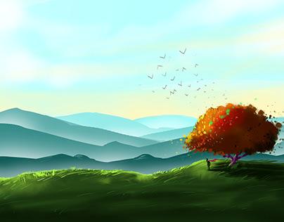 Digital Illustration By student