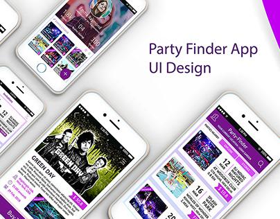 Party-Finder(Event Finder) App UI design