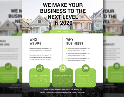 BUSINESS FLYER WITH FREE PSD MOCK-UP