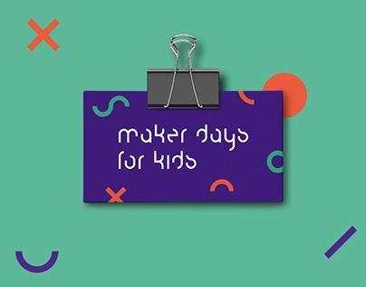 Maker Days for Kids Branding