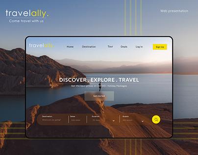 Travelally - Travel app Website Presentation