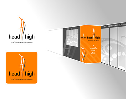 Head High Salon Logo and Shop frontage concepts