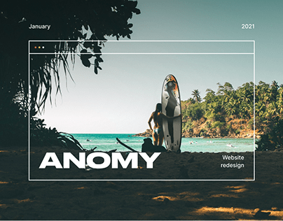 Anomy. Website redesign