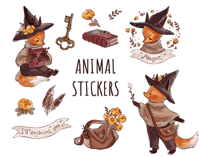 Stickerpacks with Animals