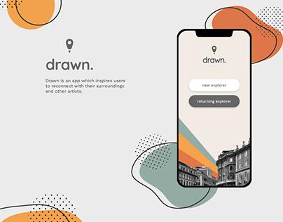 drawn. | MOBILE APP CONCEPT