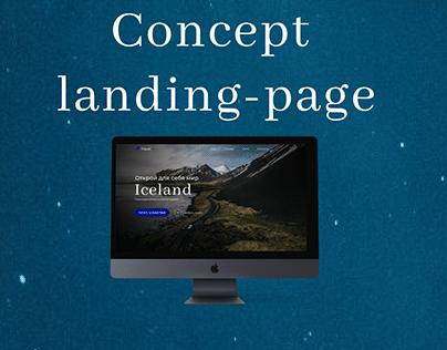 Concept landing-page