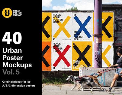 Urban Poster Mockup VOL.5