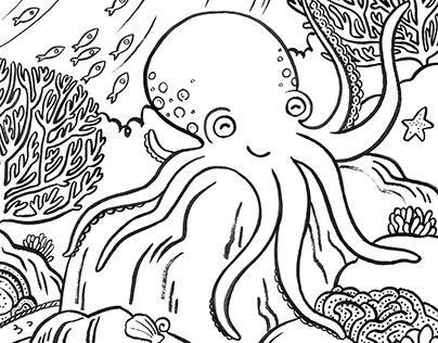 Underwater Colouring Page