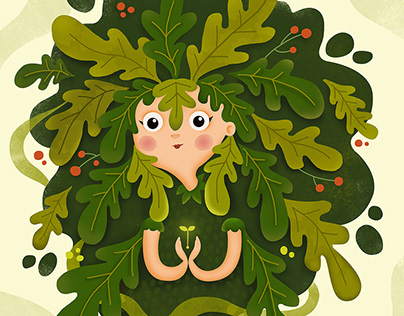 Forest spirits♦Our planet week illustration